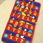 """Kinderlernbuch """"Buchstaben"""" aus Stoff, jeder Buchstabe hat ein herausnehmbares Symbol 44,00 EUR"""