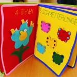 """Kinderlernbuch """"Zahlen"""" aus Stoff, alle Teile herausnehmbar 32,00 EUR"""